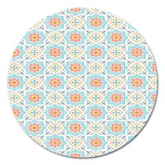 Star Sign Plaid Magnet 5  (round) by Mariart