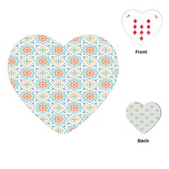 Star Sign Plaid Playing Cards (heart)  by Mariart