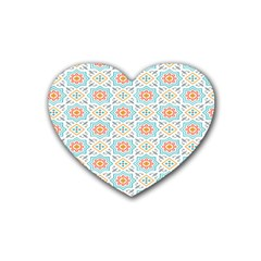 Star Sign Plaid Rubber Coaster (heart)  by Mariart