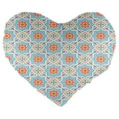 Star Sign Plaid Large 19  Premium Heart Shape Cushions by Mariart