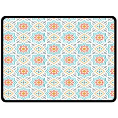 Star Sign Plaid Double Sided Fleece Blanket (large)  by Mariart