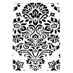 Vintage Damask Black Flower Flap Covers (s)  by Mariart