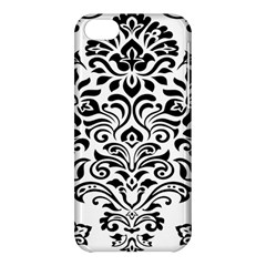 Vintage Damask Black Flower Apple Iphone 5c Hardshell Case by Mariart