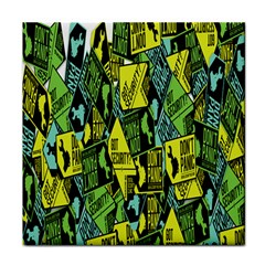 Sign Don t Panic Digital Security Helpline Access Tile Coasters by Mariart