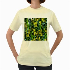 Sign Don t Panic Digital Security Helpline Access Women s Yellow T Shirt by Mariart