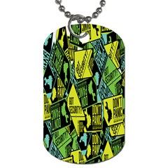 Sign Don t Panic Digital Security Helpline Access Dog Tag (one Side) by Mariart