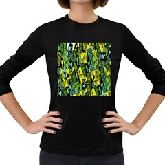 Sign Don t Panic Digital Security Helpline Access Women s Long Sleeve Dark T Shirts by Mariart