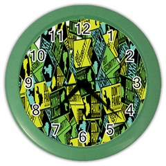 Sign Don t Panic Digital Security Helpline Access Color Wall Clocks by Mariart