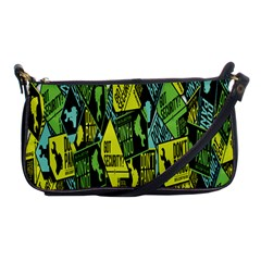 Sign Don t Panic Digital Security Helpline Access Shoulder Clutch Bags by Mariart