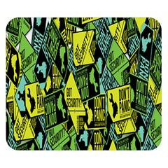 Sign Don t Panic Digital Security Helpline Access Double Sided Flano Blanket (small)  by Mariart
