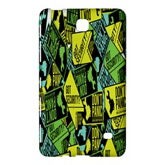 Sign Don t Panic Digital Security Helpline Access Samsung Galaxy Tab 4 (8 ) Hardshell Case  by Mariart