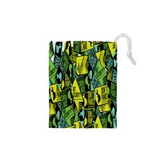Sign Don t Panic Digital Security Helpline Access Drawstring Pouches (xs)  by Mariart
