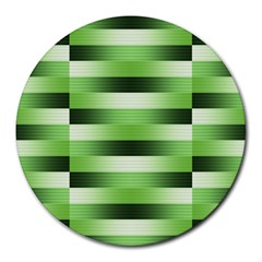 View Original Pinstripes Green Shapes Shades Round Mousepads by Mariart