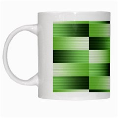 View Original Pinstripes Green Shapes Shades White Mugs by Mariart