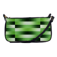 View Original Pinstripes Green Shapes Shades Shoulder Clutch Bags by Mariart