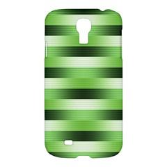 View Original Pinstripes Green Shapes Shades Samsung Galaxy S4 I9500/i9505 Hardshell Case by Mariart