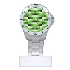 View Original Pinstripes Green Shapes Shades Plastic Nurses Watch by Mariart
