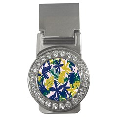 Tropics Leaf Yellow Green Blue Money Clips (cz)  by Mariart