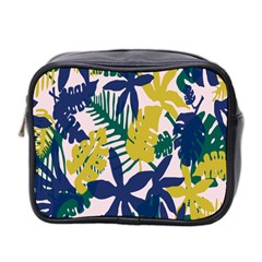 Tropics Leaf Yellow Green Blue Mini Toiletries Bag 2 Side by Mariart