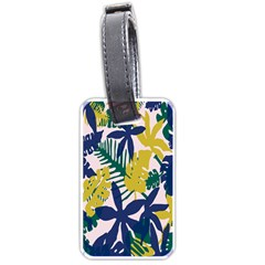 Tropics Leaf Yellow Green Blue Luggage Tags (two Sides) by Mariart