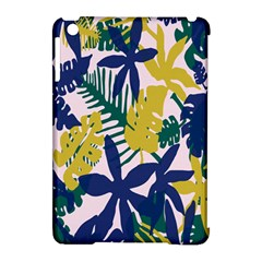 Tropics Leaf Yellow Green Blue Apple Ipad Mini Hardshell Case (compatible With Smart Cover)