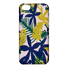 Tropics Leaf Yellow Green Blue Apple Iphone 5c Hardshell Case by Mariart