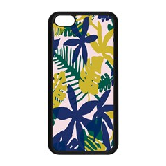 Tropics Leaf Yellow Green Blue Apple Iphone 5c Seamless Case (black) by Mariart