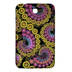 Spiral Floral Fractal Flower Star Sunflower Purple Yellow Samsung Galaxy Tab 3 (7 ) P3200 Hardshell Case  by Mariart