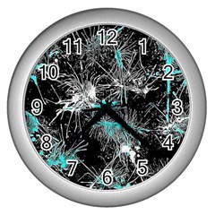 Color Fun 03a Wall Clocks (silver)  by MoreColorsinLife