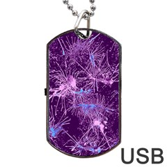 Color Fun 03c Dog Tag Usb Flash (one Side) by MoreColorsinLife