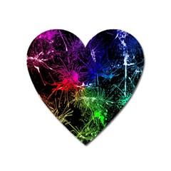 Color Fun 03b Heart Magnet by MoreColorsinLife