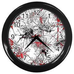 Color Fun 03d Wall Clocks (black) by MoreColorsinLife