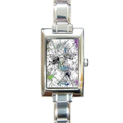 Color Fun 03f Rectangle Italian Charm Watch by MoreColorsinLife
