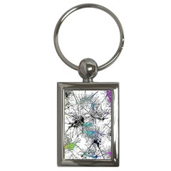 Color Fun 03f Key Chains (rectangle)  by MoreColorsinLife
