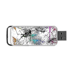 Color Fun 03f Portable Usb Flash (one Side) by MoreColorsinLife