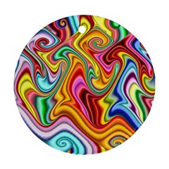 Rainbow Gnarls Ornament (round) by WolfepawFractals