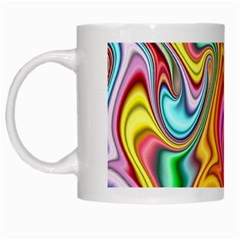 Rainbow Gnarls White Mugs by WolfepawFractals