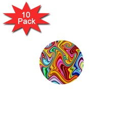 Rainbow Gnarls 1  Mini Buttons (10 Pack)  by WolfepawFractals