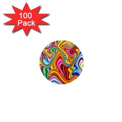 Rainbow Gnarls 1  Mini Magnets (100 Pack)  by WolfepawFractals