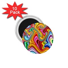 Rainbow Gnarls 1 75  Magnets (10 Pack)  by WolfepawFractals