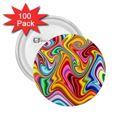 Rainbow Gnarls 2 25  Buttons (100 Pack)  by WolfepawFractals