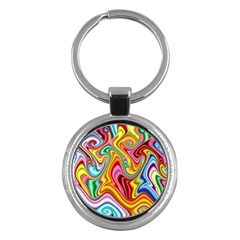 Rainbow Gnarls Key Chains (round)  by WolfepawFractals