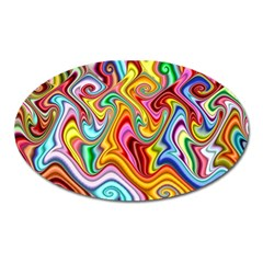Rainbow Gnarls Oval Magnet by WolfepawFractals