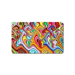 Rainbow Gnarls Magnet (name Card) by WolfepawFractals