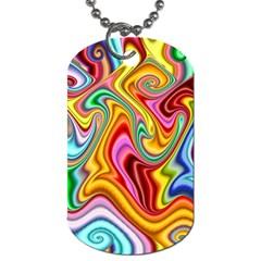 Rainbow Gnarls Dog Tag (two Sides) by WolfepawFractals