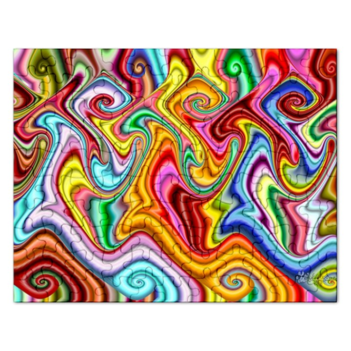 Rainbow Gnarls Rectangular Jigsaw Puzzl