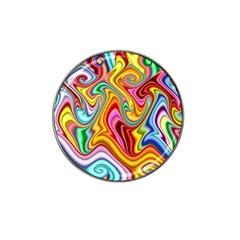 Rainbow Gnarls Hat Clip Ball Marker (4 Pack) by WolfepawFractals