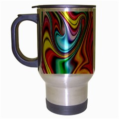 Rainbow Gnarls Travel Mug (silver Gray) by WolfepawFractals