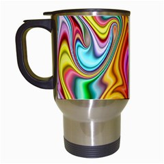 Rainbow Gnarls Travel Mugs (white) by WolfepawFractals