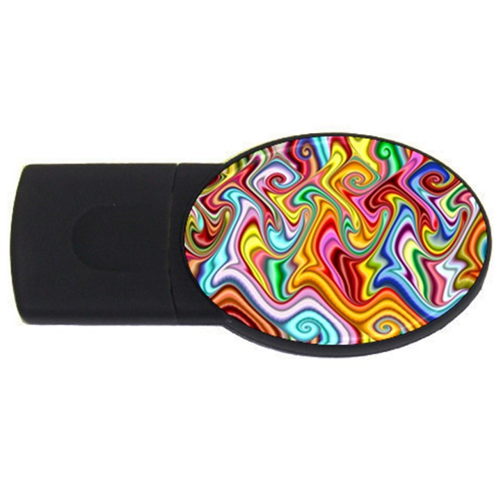 Rainbow Gnarls USB Flash Drive Oval (4 GB)